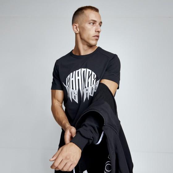 T-shirt Evolution Body Μαύρη 2490BLACK