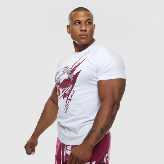 T-shirt Evolution Body Λευκό-Μπορντό 2462WHITE-BORDO