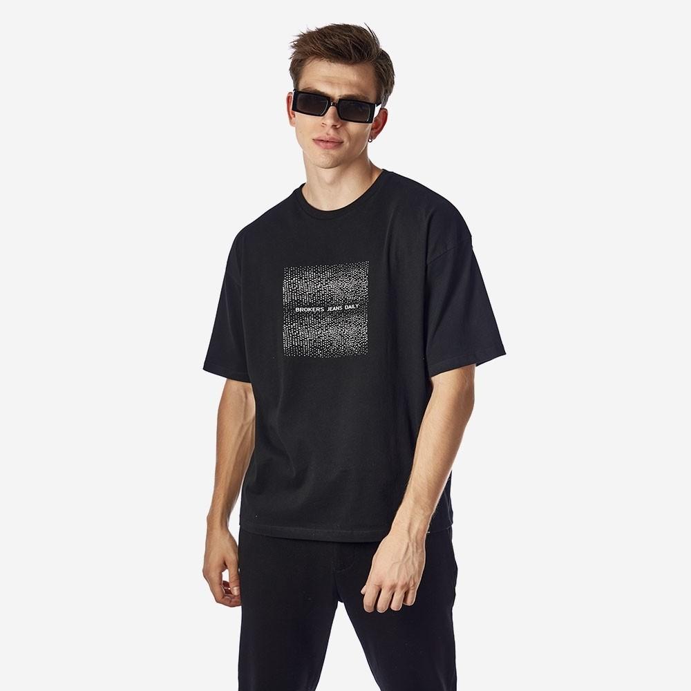 21512-112-01-BLACK ΑΝΔΡΙΚΟ T-SHIRT BROKERS