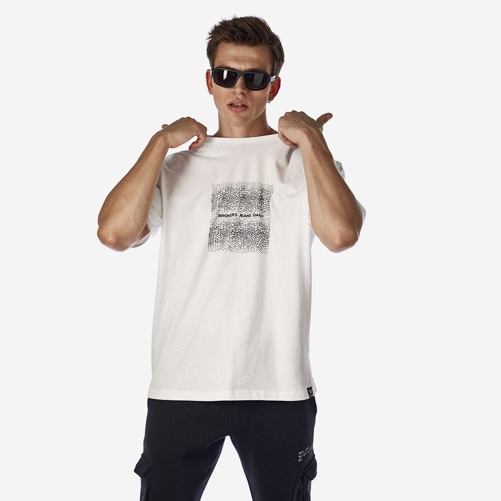 21512-112-01-WHITE ΑΝΔΡΙΚΟ T-SHIRT BROKERS