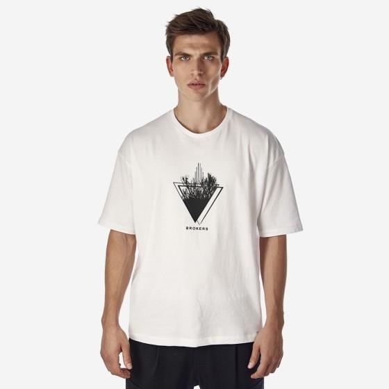 21512-107-01-WHITE ΑΝΔΡΙΚΟ T-SHIRT BROKERS