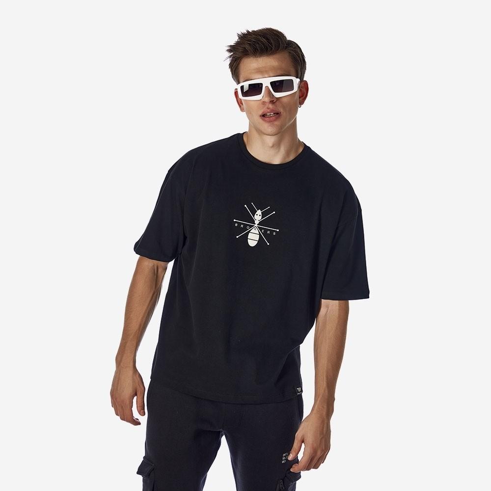 21512-105-01-BLACK ΑΝΔΡΙΚΟ T-SHIRT BROKERS