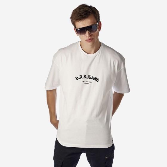 21512-104-01-WHITE ΑΝΔΡΙΚΟ T-SHIRT BROKERS
