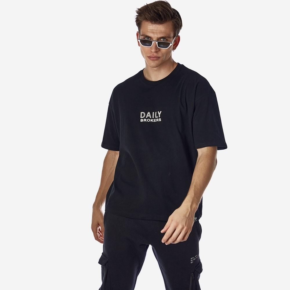 21512-103-01-BLACK ΑΝΔΡΙΚΟ T-SHIRT BROKERS