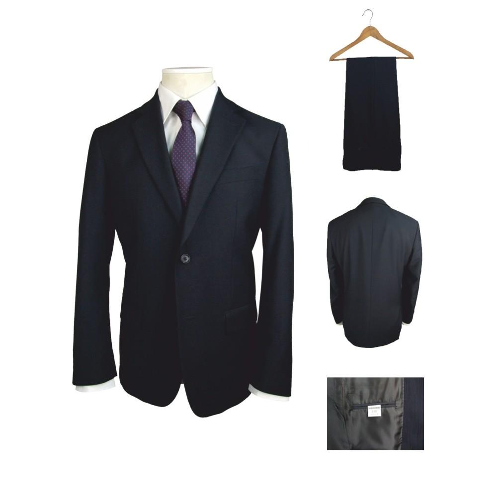 Men's Plain Blue Suit