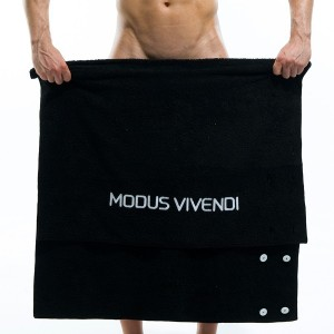 Βeach Towel & Mens Pareo - Black