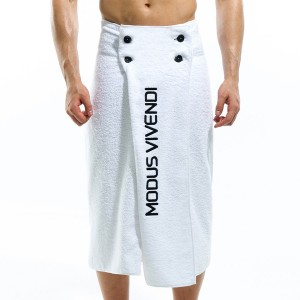 Βeach Towel & Mens Pareo - White