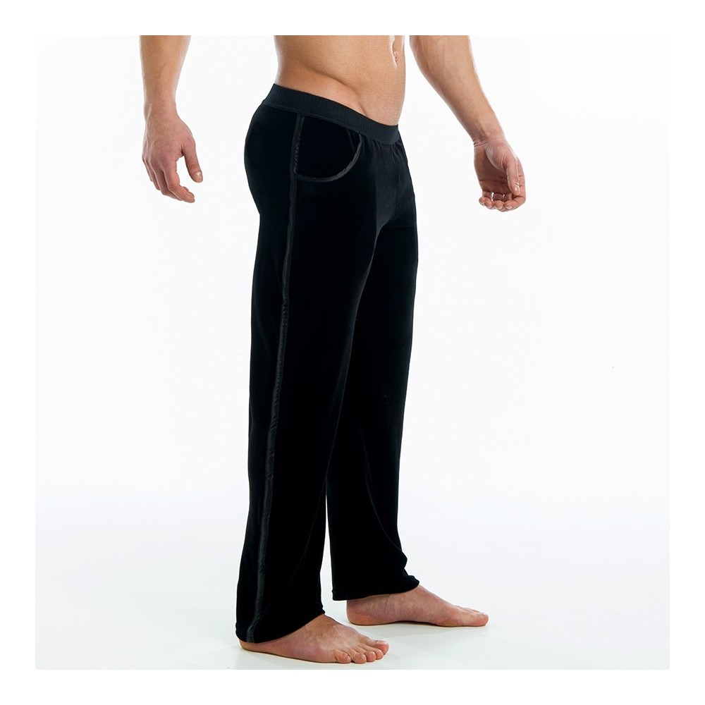 VELVET-SATIN LOUNGE PANTS