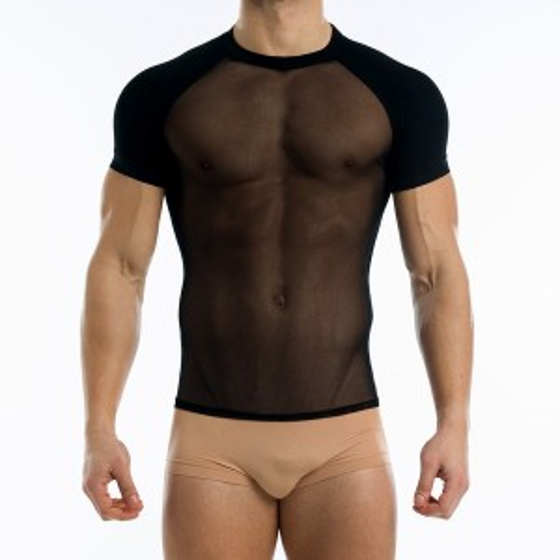TRANSPARENT T-SHIRT BLACK