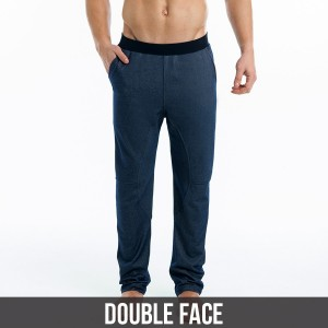 indigo double face pants