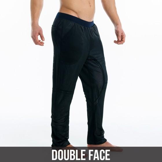 Ιndigo double face pants