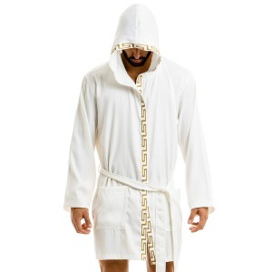 Meander robe - White