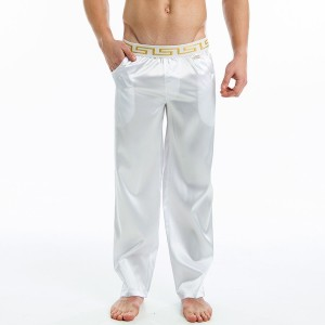 Μeander lounge pants - White