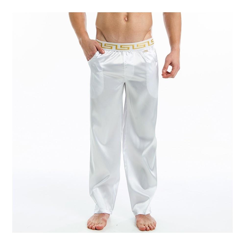 Μeander lounge pants - White