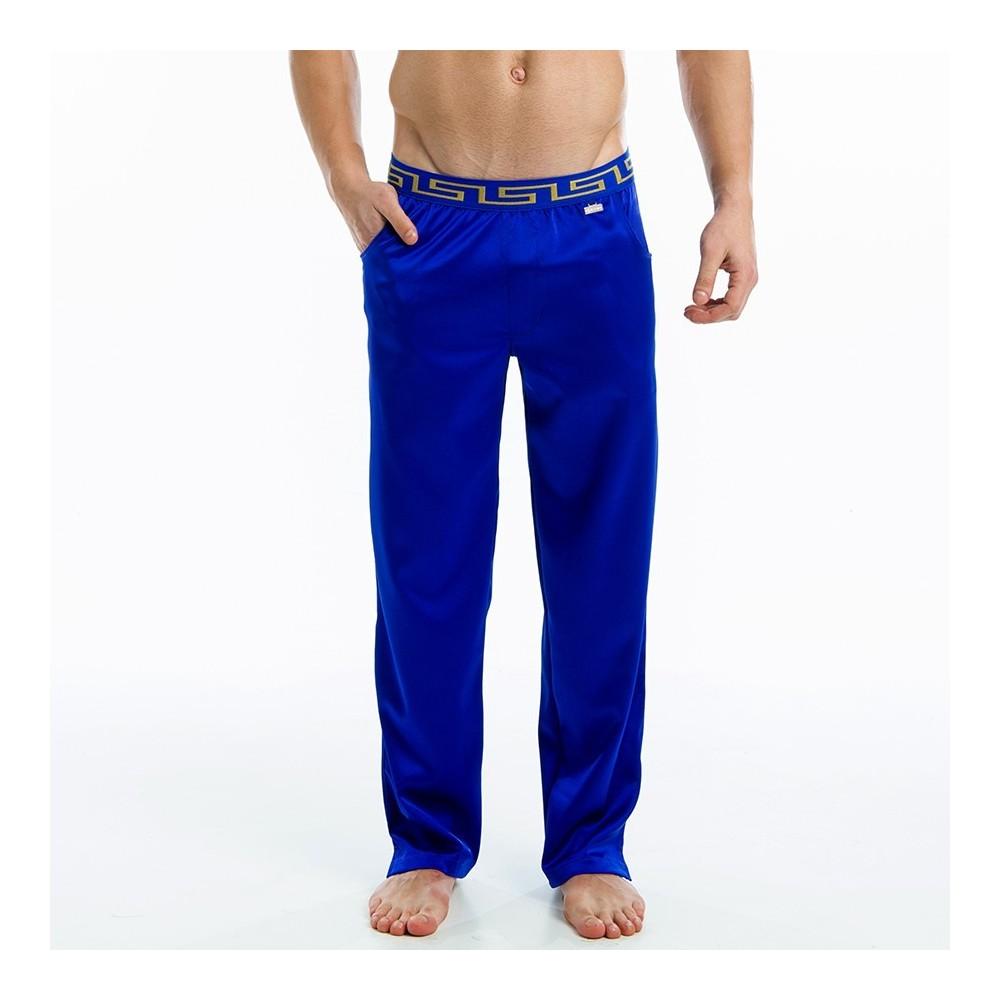 Μeander lounge pants - Blue