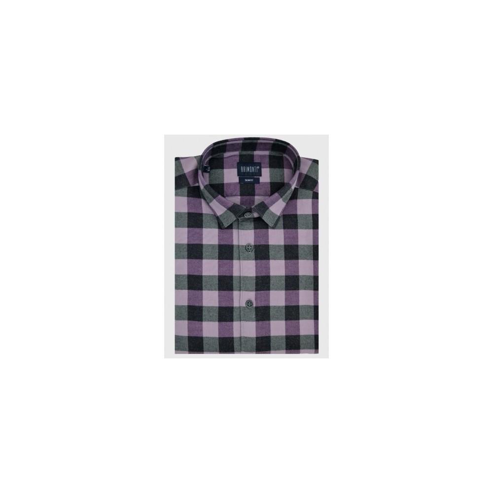 Φανελένιο πουκάμισο slim fit