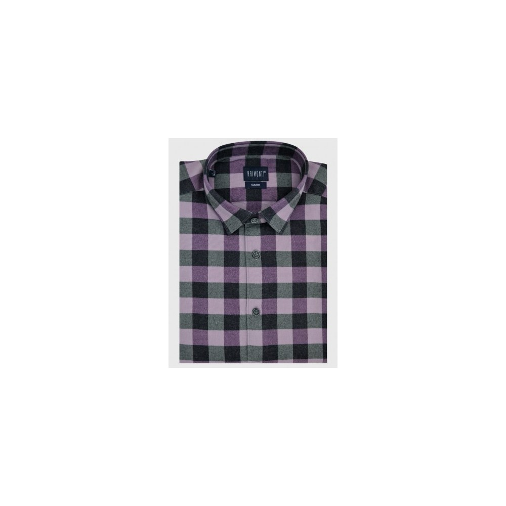 Flannel fitted shirt slim fit
