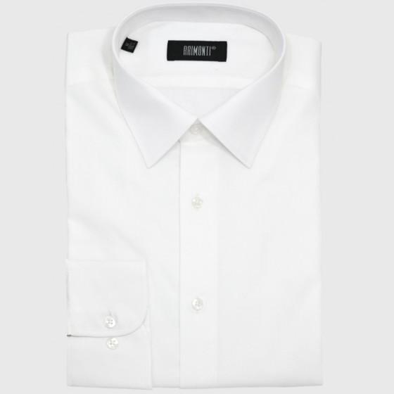 Λευκό πουκάμισο με διακριτική ρίγα