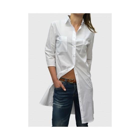 Λευκό πουκάμισο φόρεμα