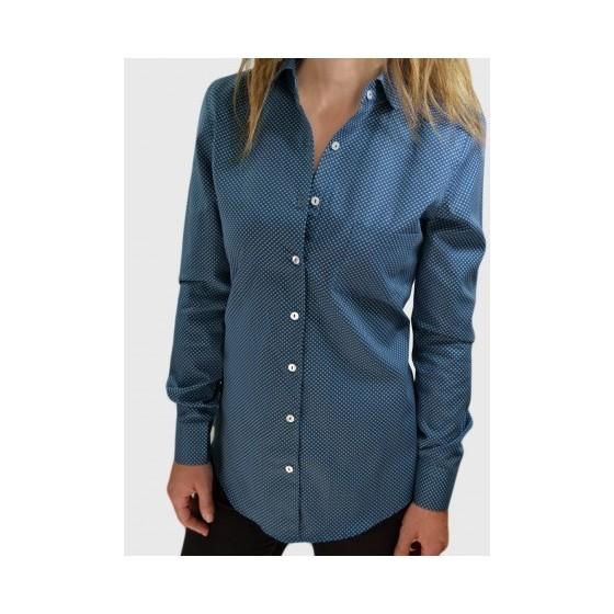 Μπλε πουκάμισο με σχέδιο