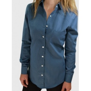 Blue patterned shirt
