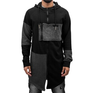 Parker Zip Hoody Black