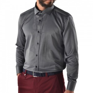 Men's shirt slim fit Black