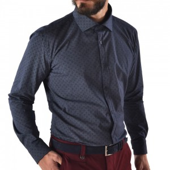 Men's shirt slim fit MARINE
