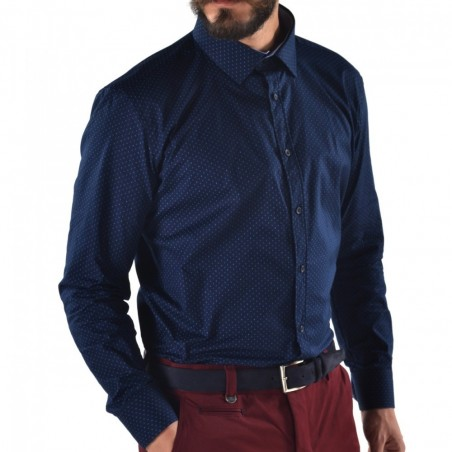 Men's shirt slim fit Blue