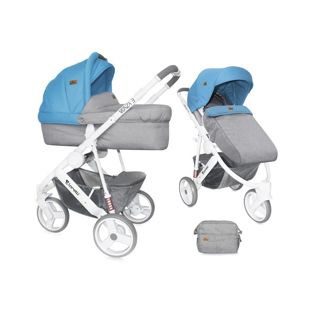 Baby Stroller MONZA 2in1 GREY