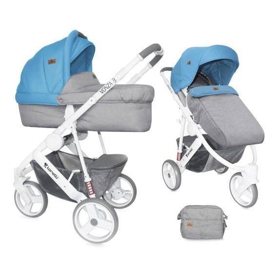 Baby Stroller MONZA 3in1 GREY