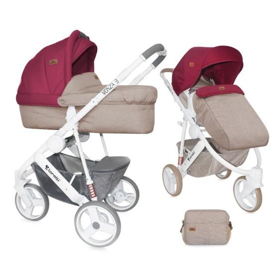 Baby Stroller MONZA 3in1 BEIGE&RED