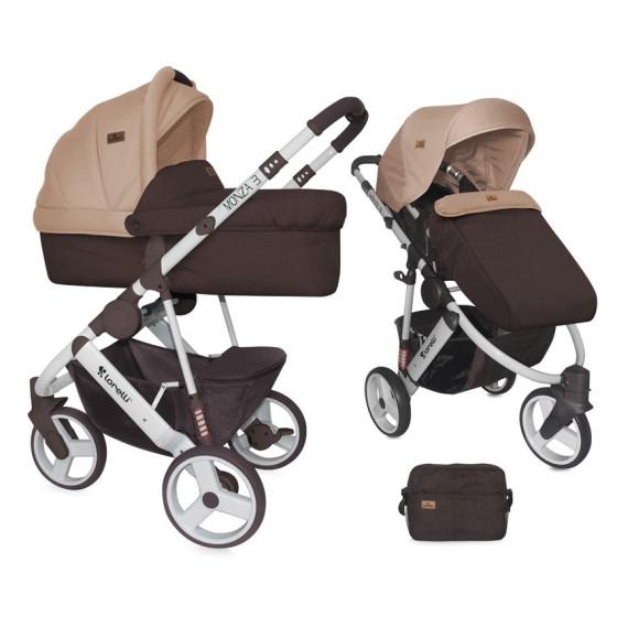 Baby Stroller MONZA 3in1  BROWN&BEIGE