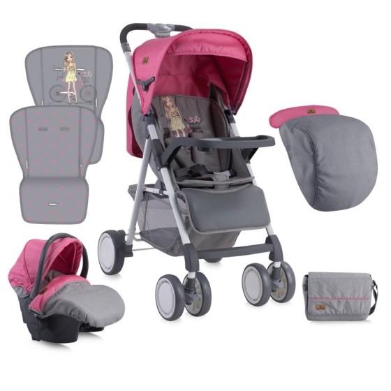 Baby Stroller AERO SET  ROSE&GREY GIRL